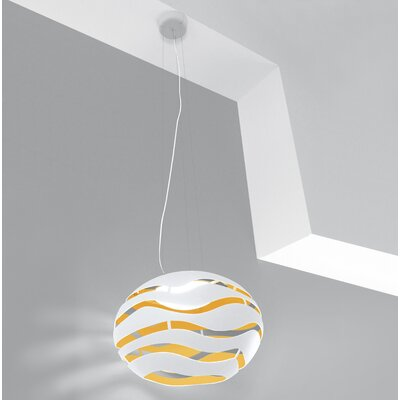 Tree Small Globe Pendant Shade Color: White