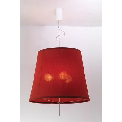 Adolight 2 Bell Pendant Shade Color: Red