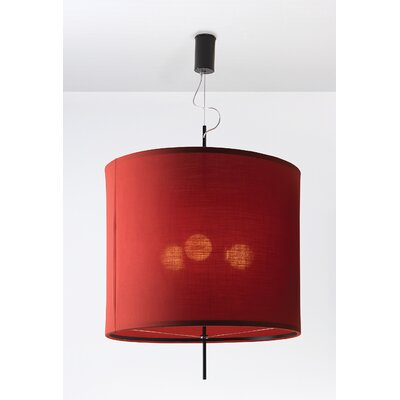 Image of Adolight 3 Drum Pendant Shade Color: Red