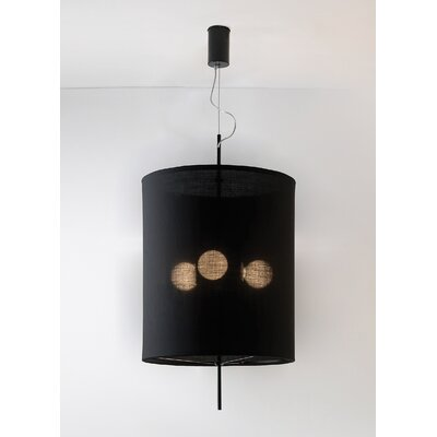 Adolight 1 Drum Pendant Shade Color: Black