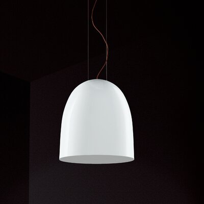 Suspension Bowl Pendant Shade Color: Silver / White Image