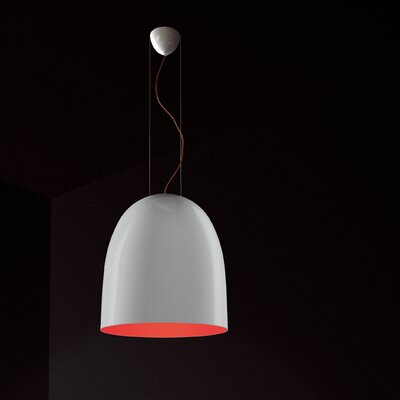 Suspension Bowl Pendant Shade Color: Orange / Black
