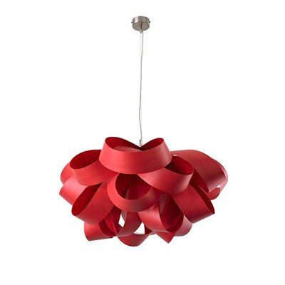 Agatha Geometric Pendant Bulb Type: GU24 Base, Size: Large, Finish: Red