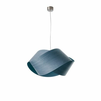 Nut 1-Light Geometric Pendant Shade Color: Blue, Bulb: GU24
