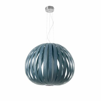 Poppy 1-Light Globe Pendant Finish: Chocolate, Bulb Type: GU24 Base