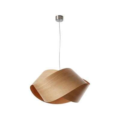 Nut 1-Light Geometric Pendant Shade Color: Natural Cherry, Bulb: GU24