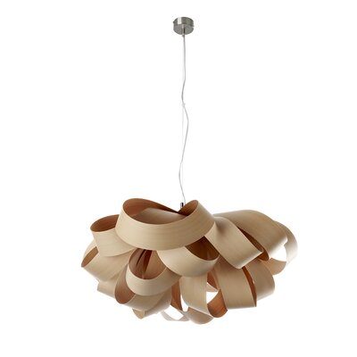 Agatha Geometric Pendant Size: Small, Bulb Type: GU24 Base, Finish: Natural Beech