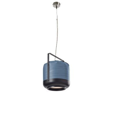 Chou 1-Light Pendant Bulb Type: E26 Base, Finish: Blue, Size: Small