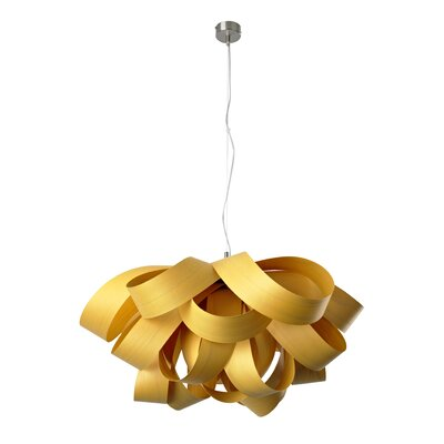 Agatha Geometric Pendant Size: Small, Bulb Type: GU24 Base, Finish: Yellow