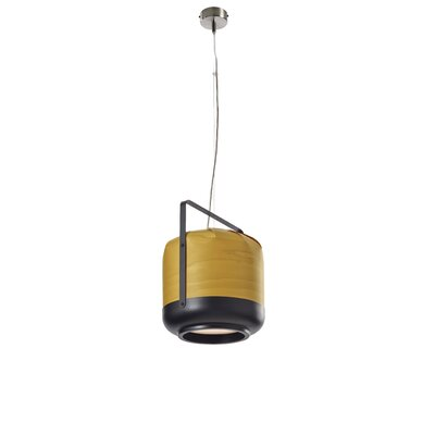 Chou 1-Light Mini Pendant Finish: Yellow, Size: Small, Bulb Type: E26 Base