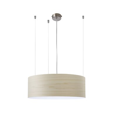 Gea 1-Light Drum Pendant Finish: Ivory White, Ballast: 120V