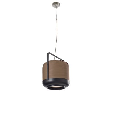 Chou 1-Light Pendant Size: Medium, Finish: Chocolate, Bulb Type: GU24 Base