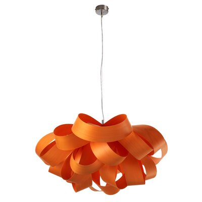 Agatha Geometric Pendant Size: Small, Bulb Type: GU24 Base, Finish: Orange