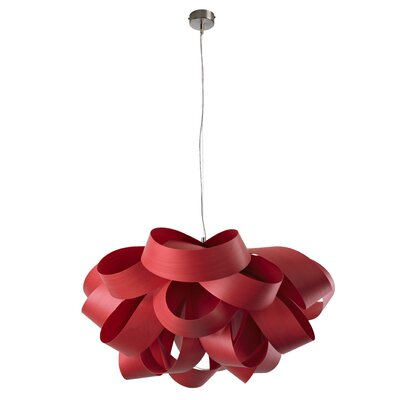 Agatha 3-Light Geometric Pendant Finish: Red, Size: Small, Bulb Type: E26 Base