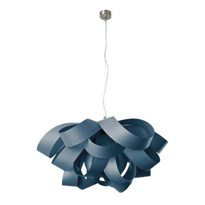 Agatha 3-Light Geometric Pendant Finish: Blue, Size: Large, Bulb Type: GU24 Base