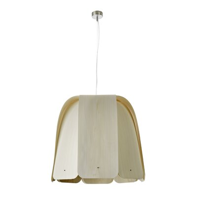 Domo 1-Light Bowl Pendant Bulb Type: E26 Base, Finish: Ivory White, Size: Large