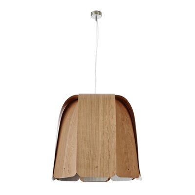 Domo 1-Light Bowl Pendant Bulb Type: GU24 Base, Finish: Natural Cherry, Size: Large
