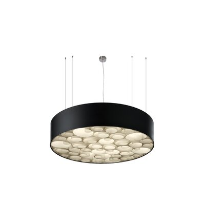 Spiro 10 LED Integrated Bulb Drum Pendant Shade Color: Ivory White