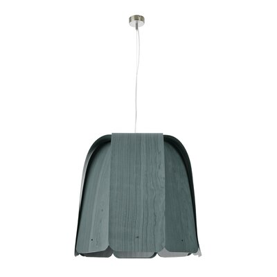 Domo 1-Light Bowl Pendant Bulb Type: E26 Base, Finish: Turquoise, Size: Large
