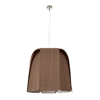 Domo 1-Light Bowl Pendant Bulb Type: E26 Base, Finish: Chocolate, Size: Large
