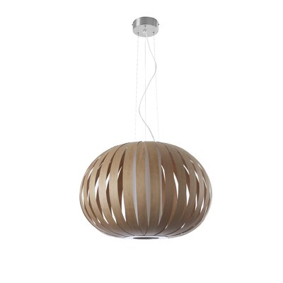 Poppy 1-Light Globe Pendant Finish: Natural Cherry, Size: 23.6 H x 28.7 W x 28.7 D, Bulb Type: E26