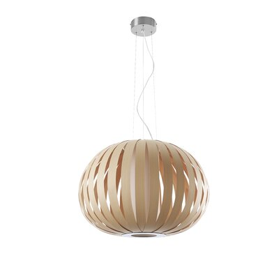 Poppy 1-Light Globe Pendant Finish: Natural Beech, Size: 23.6 H x 28.7 W x 28.7 D, Bulb Type: GU24