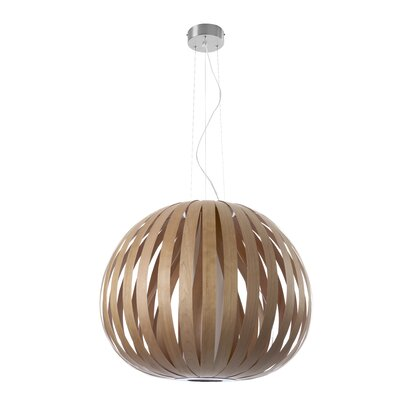 Poppy 1-Light Pendant Bulb Type: E26 Base, Finish: Natural Cherry