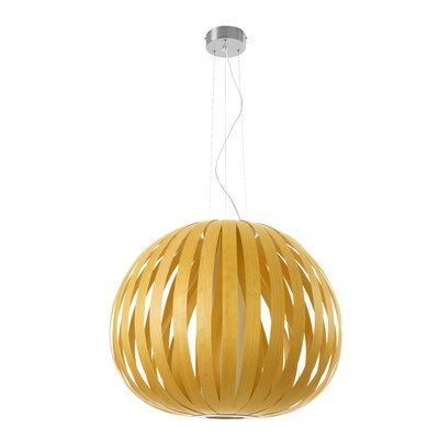 Poppy 1-Light Globe Pendant Finish: Yellow, Size: 24.8 H x 24.8 W x 29.5 D, Bulb Type: E26