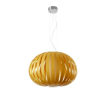 Small Poppy 1-Light Pendant Bulb Type: GU24 Base, Finish: Yellow