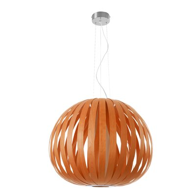 Poppy 1-Light Globe Pendant Finish: Orange, Size: 24.8 H x 24.8 W x 29.5 D, Bulb Type: GU24