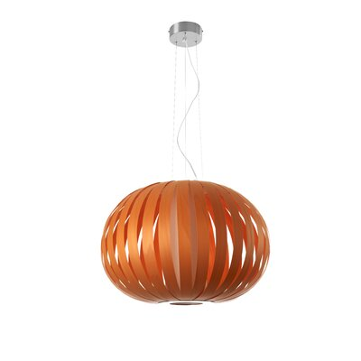 Small Poppy 1-Light Pendant Bulb Type: GU24 Base, Finish: Orange