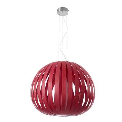 Poppy 1-Light Globe Pendant Finish: Red, Size: 24.8 H x 24.8 W x 29.5 D, Bulb Type: E26