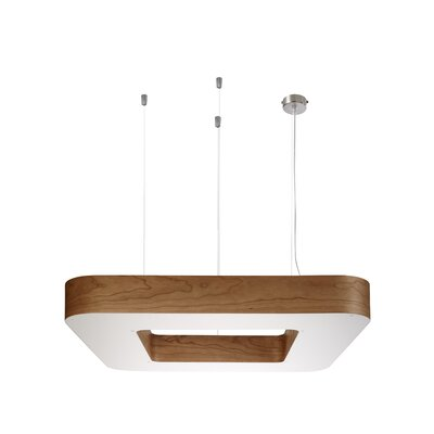 Cuad 4-Light Pendant Size: Large, Ballast: Diimmable, Finish: Natural Cherry