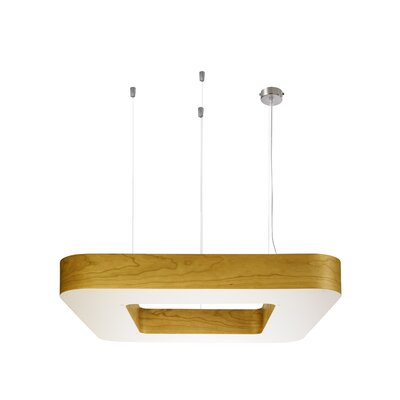 Cuad 4-Light Pendant Size: Large, Ballast: Multivolt, Finish: Yellow