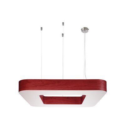Cuad 12 LED Integrated Bulb Pendant Shade Color: Red