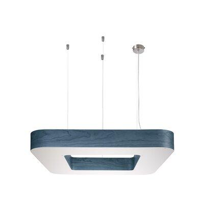 Cuad 12 LED Integrated Bulb Pendant Shade Color: Blue