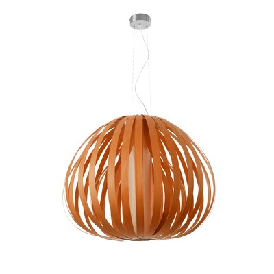 Poppy 1-Light Globe Pendant Finish: Orange, Bulb Type: GU24 Base