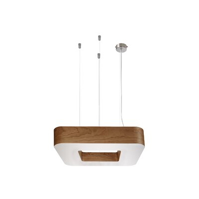 Cuad 8-Light LED Drum Pendant Shade Color: Natural Cherry