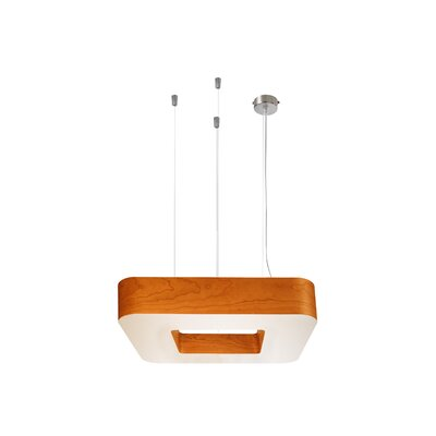 Cuad 4-Light Pendant Size: Medium, Ballast: Diimmable, Finish: Orange