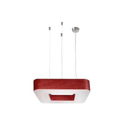 Cuad 8 LED Integrated Bulb Pendant Shade Color: Red