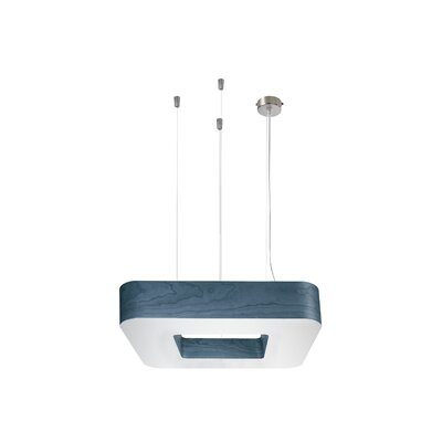 Cuad Club 4-Light Drum Pendant Finish: Blue, Size: Medium, Ballast: Multivolt