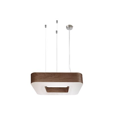 Cuad 8 LED Integrated Bulb Pendant Shade Color: Chocolate