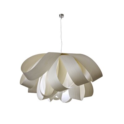 Agatha Geometric Pendant Bulb Type: GU24 Base, Finish: Ivory White, Size: Large