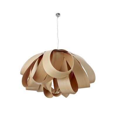 Agatha 3-Light Geometric Pendant Finish: Natural Beech, Size: Large, Bulb Type: GU24 Base