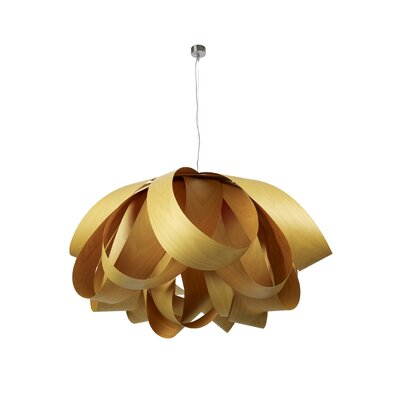 Agatha 3-Light Geometric Pendant Finish: Yellow, Size: Large, Bulb Type: E26 Base
