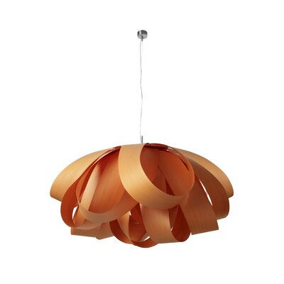 Agatha Geometric Pendant Size: Large, Finish: Orange, Bulb Type: E26 Base