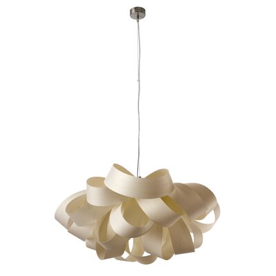 Agatha 3-Light Geometric Pendant Finish: Ivory White, Size: Small, Bulb Type: E26 Base