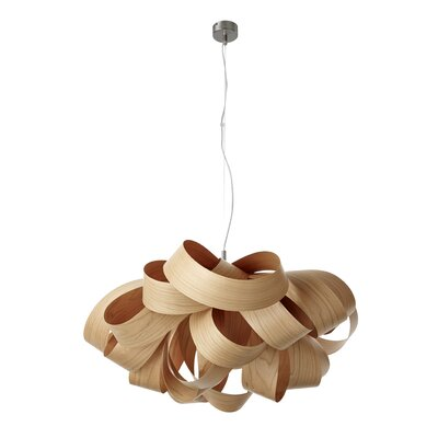 Agatha Geometric Pendant Size: Small, Bulb Type: GU24 Base, Finish: Natural Cherry