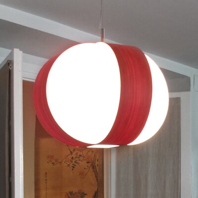 Carambola 1-Light Mini Pendant Finish: Natural Cherry, Bulb Type: GU24