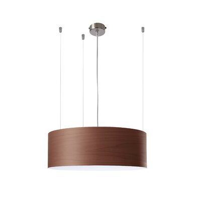 G-Club 4 LED Integrated Bulb Drum Pendant Shade Color: Chocolate